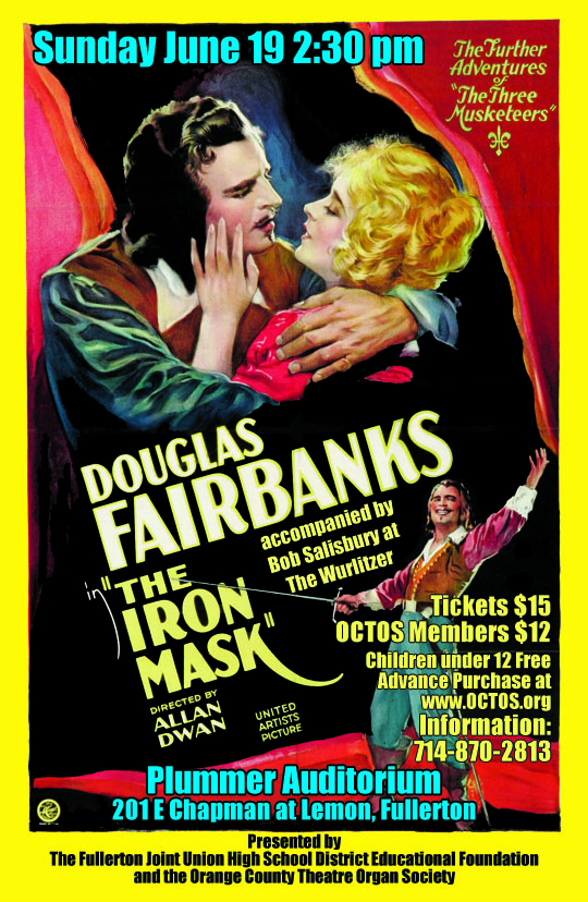 Bob Salisbury Organist Wurlitzer The Iron Mask Douglas Fairbanks
